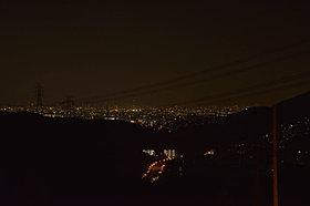 夜にはこんなきれいな夜景を楽しむことができます
