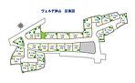 ■区画図。 第2期 11戸。(全26戸)  ■敷地30~40坪中心。■タウン内には子供たちが元気に遊べる公園があります。