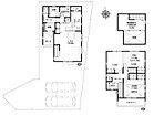 1号棟 間取図 可能な限り収納スペースを確保した4LDK+小屋裏収納部屋 ほとんどのお部屋が南向きなのもポイントです!