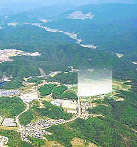 現地上空付近からの航空写真