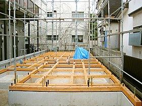 ■床下換気工法(ベタ基礎スラブ厚200mm+土台ヒノキ材)