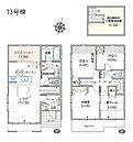 LDK18.2帖の贅沢な造りで広々とゆとりを持たせている6号棟です。