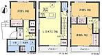 【2号棟・間取り図】陽当たり良好の南面バルコニー2ヶ所設置。全居室収納有りの他、廊下や洗面室にも収納スペースを設けました。☆最終1棟になりました!!