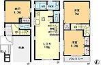 全居室6帖以上のゆったりとした空間です。納戸も居室としてお使いいただけます(実質3LDK)。リビングイン階段のご家族間の会話が生まれやすい設計になっています。陽当たり良好の南面バルコニー設置。