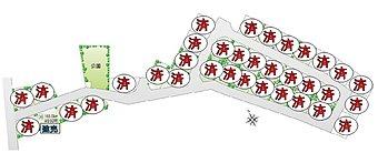 【COMFORTS 八千代II 区割り図】