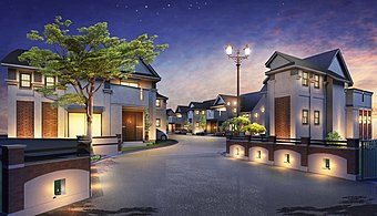 """""""赤レンガ""""と""""ランプの灯り""""異国情緒が薫る、全26家族の新街区。"""