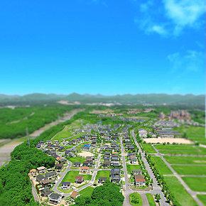 現地上空付近より撮影(平成25年5月撮影※一部CG加工を施しています。)
