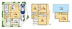 LDK+隣接和室、間仕切りを開放すれば計22.2畳のおもてなしスペースに