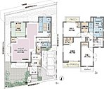 20号棟 4LDK(フレックスウォールは有償オプション) 土地130.10m2 建物98.33m2 4598万円
