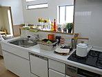 ママにとってもうれしいカウンターキッチンです。家族と会話をしながら楽しくお料理ができます。食洗器、電動棚も標準装備となっております。