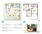 NEWモデルハウスプラン ウッドデッキや各部屋収納もあって、機能的で愉しみの広がる生活が魅力の一邸です。