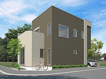 街並完成イメージCG 広々前面道路に恵まれた利便性と閑静な住宅街 ※完成イメージCGですので実際とは異なりますので予めご了承ください。