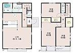 【2号棟】LDKはゆったり19.5帖。人気の対面式キッチン。全居室6帖以上、主寝室はゆったり8帖。収納充実。2部屋より出入り可能。【資料請求は、飯田ホームトレードセンター(株)鷺沼営業所へ】