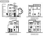 立面図です。 都市型住宅のデザインを採用しております。