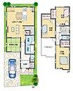 延床面積約30.1坪。人気のリビング階段、家族と過ごす時間が増えます。リビングから続く和室は第2のリビングとして、ときには客間として使える機能的なスペースです