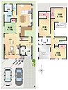 2区画を合せてゆったりとした間取りの2階建ても可能です。