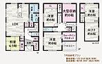【2号地 間取り】弊社ではご家族のライフスタイルや、こんな家に住みたい!などお客様の夢を叶える自由度の高い自由設計で対応させて頂きます。