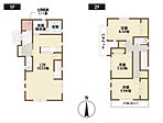 8号棟 間取り図 玄関横には約1帖の土間収納。ベビーカーや遊び道具、ゴルフバックなどの収納に。