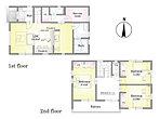 16号棟 間取り図 LDKにはカウンターを設置。家事スペースや家族の共有スペースなど使い方はアイデア次第。
