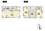 2号棟間取り図 各居室に収納スペース。季節ごとのお洋服のすっきりしまえます。