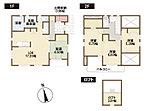 1号棟間取り図 約17帖のLDKは家族団らんのリラックス空間。2階洋室上のロフトは、趣味のスペースはお子様の秘密基地にも。