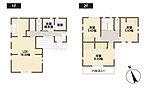 4号棟 間取り図  18帖以上ののLDKは家族のくつろぎの空間に。まとまった水廻りは家事動線もスムーズです。