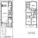 4号地間取り図です!!リビングも大きく、2階のお部屋は全室6帖以上、収納も大容量です!