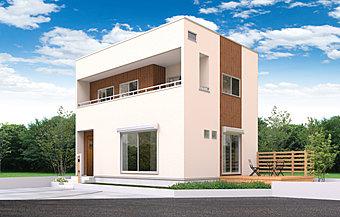 外観トレンドの大屋根モデルハウスが現地にあります。