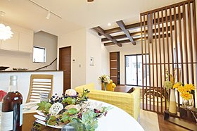 施工例:天井高をあげることで開放感が得られます。