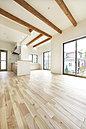 全室無垢フローリングの温もり感じる空間