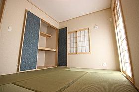 家族の憩いの空間の和室