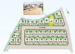 全区画40坪以上のゆったりとした全30区画の大型分譲地。