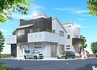 ハウスセイラーズの住宅に対する思いが建築デザイナーの表現と融合し、 ひとつの答えとなって生み出されたアーバンポートシリーズ〈完成予想図〉