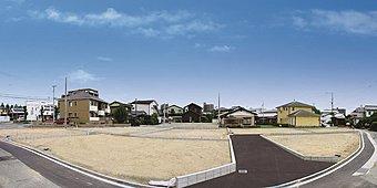 利便性のよい立地に50坪超の整然とした開発分譲地が誕生しました。