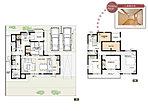 2号棟:敷地面積/190.33m2(57.57坪) 建物面積/113.86m2(34.37坪)