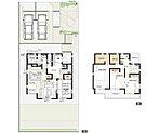 2号棟:敷地面積/256.45m2(77.57坪) 建物面積/114.82m2(34.66坪)