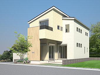 ただ今建設中のE号地モデルハウス外観CG。