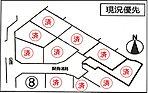 ■区割図です。現在8号棟が販売中です。こちらは最終1棟になります。現況更地、建築条件はございませんのでお好きなハウスメーカーさんで建築することもできます。