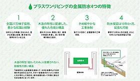 プラスワンリビングの金属防水 4つの特徴