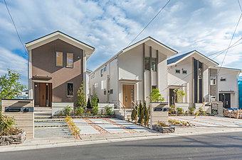 第1種低層住居専用地域に全19棟の大型分譲地誕生 全区画125m2超