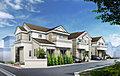 ヨーロピアン調デザイン住宅。20帖のフリースペース付きLDK。残り1棟