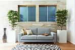 (COOL NATURAL)オーク材の挽板フローリングでより風合いが楽しめる「ナチュラルテイスト」な空間。