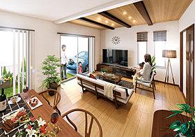 化粧梁や折上天井など、こだわりの空間プランニング。