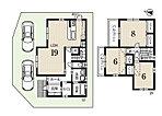 1号地 価格 3495万円、土地面積122.25m2、建物面積 97.61m2、4LDK、駐車2台可能