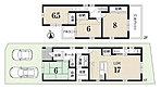 1号地3281万円 土地106.90m2 建延102.87m2 ガス床暖房、浴室暖房乾燥機、食器洗浄乾燥機、ペアガラス、天井収納庫、駐車2台、4LDK、ワイドバルコニー