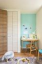 子供部屋当社施工例(同仕様):子供部屋はリビングを必ず通る位置に・・・。広路本町西の家でも、棟によってはこの写真と同じ仕様・間取りの子供部屋です。