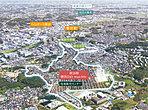 総開発面積約28万m2の大規模開発。麗しき丘の上の960区画