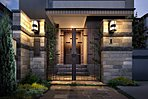14号棟外観完成予想CG アルミ鋳物フェンス、自然石、タイル、植栽により創りあげられ、重厚さと暖かみを併せて表現しています。