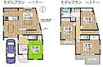 プランドール 枚方公園 3号地モデルプラン:4LDK+S(次世代大型床下収納室【シュ―パ】採用)土地面積90.76m2、建物面積100.46m2