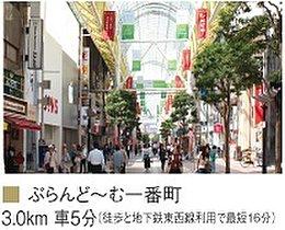 ぷらんど~む一番町(徒歩と地下鉄東西線利用で最短16分)